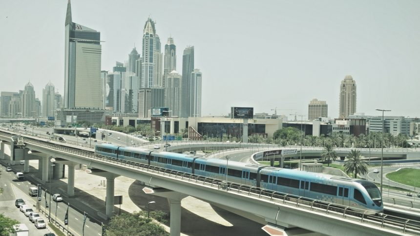 Metro Dubai transportation project